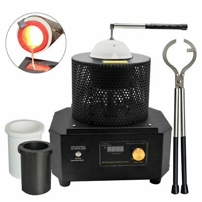 Medium Frequency Induction Heater Metal Melting Furnace Gold Copper Iron Smelter • 789.99£