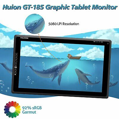 AU509.29 • Buy Huion 18.4  Graphics Tablet HDMI Monitor Display Screen Wireless Pen Art Drawing