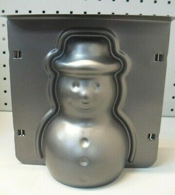 3D Snowman Cake Tin, 6  Tall Baking Cooking Christmas • 7.95£