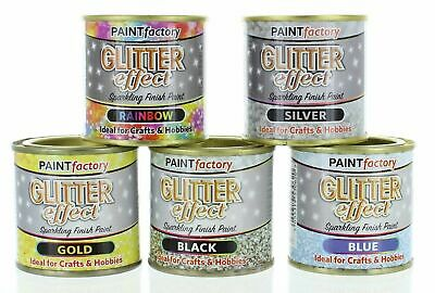 5 X Glitter Effect Sparkling Finish Craft/Hobby Paint 125ml  5 Different Colours • 13.99£