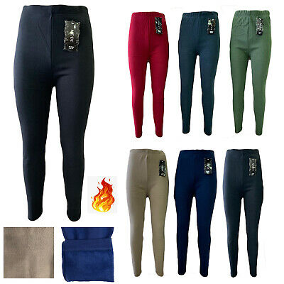 £4.95 • Buy Womens Ladies Winter Fleece Thermal Stretchy Warm Thick Full Length Leggings