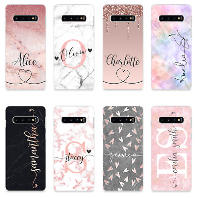 $ CDN10.40 • Buy Personalised Name Initials Silicone Phone Case For Samsung Galaxy S9 S20 S10 S8