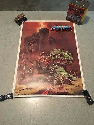 $30 • Buy Vintage 1984 Masters Of The Universe Poster Kellogggs Cereal Premium Rare NM