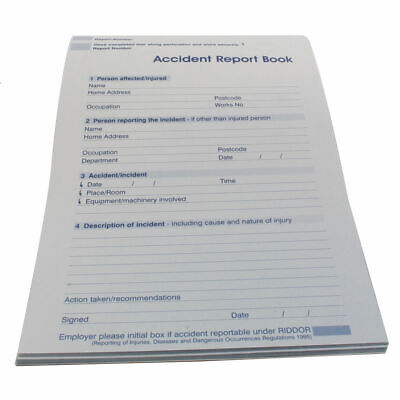 NEW! Wallace Cameron Accident Report Book 5401015 • 11.15£