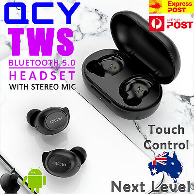 AU29.99 • Buy QCY T9S TWS Wireless Bluetooth Earphones Sports Earbuds For Earpods IOS Android