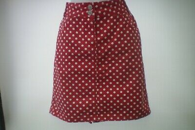 Size 10 Red Polka Dot Skirt By Tu New Without Tags • 9.99£