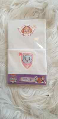 Girls Paw Patrol Cotton Vests 2 Pack 18-24 Months 2-3 3-4 4-5 Years White  • 3.80£