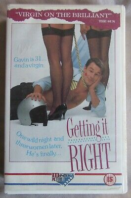 Getting It Right, Vhs Big Box Medusa Ex Rental Helena Bonham Carter *very Rare* • 32.99£