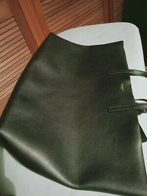 AU750 • Buy Saint Laurent Paris Black Leather Tote. Made In Italy With YSL Gold Symbol.