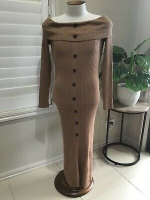 AU15 • Buy Asos Camel Size 16 Fitted Dress
