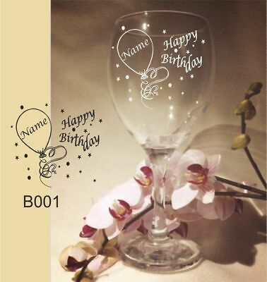 Personalised Engraved Wine Glass Birthday Gift 18th 21st 30th 40th 50th Any Age • 8.29£