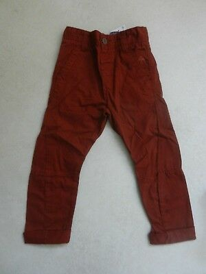 BNWT Next Boys Turmeric Skinny Twist Chino Trousers Age 4 Years Adjustable Waist • 10£