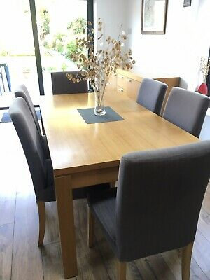 Oak Extendable Dining Table • 155£
