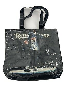Michael Jackson Rolling Stone Tote Bag Vinyl Covered Per Owed • 18.71£