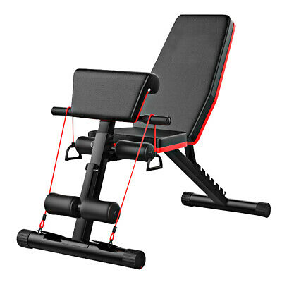 Adjustable Weight Bench Fitness Training Home Gym Exercise Bench Press UK • 63.90£