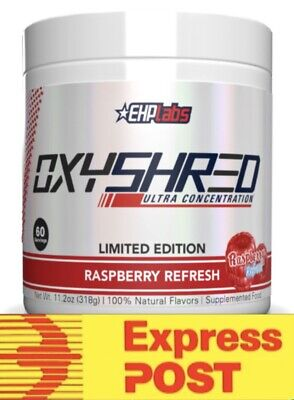 AU77.95 • Buy Ehplabs Oxyshred Raspberry Refresh Fat Limited Edition Weight Loss Free Express