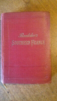 £9 • Buy Baedeker's Southern France Sixth Edition 1914 Red Cloth Cover Fair Condition