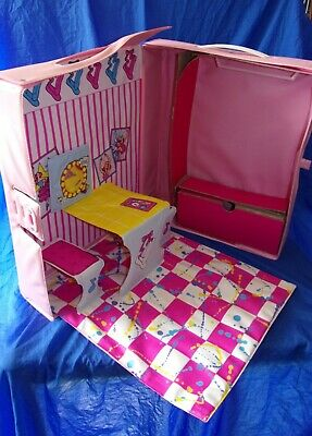 $ CDN24.16 • Buy Vintage 1988 Barbie Pink Ballerina Vinyl Fold Out Carrying Case
