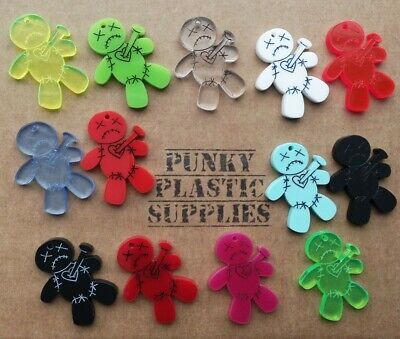 3x Voodoo Doll Laser Cut Acrylic Charms/pendants/ Cabochons/ Jewellery Making • 2£