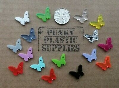 10x Tiny Butterfly Acrylic Charms/pendants/jewellery Making/craft's/laser Cut • 2£