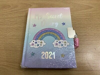 Girl's My Secret Diary 2021 Lockable With Lock And 2 Keys New • 3.95£