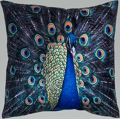 Peacock Feathers Velvet Soft Velvet Printed Modern Funky Prints Cushion Cover • 6.99£