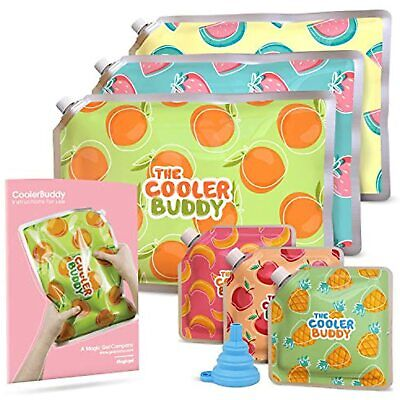 £15.99 • Buy 6 X Ice Packs For Lunch Box And Lunch Coolers - Freezer Blocks - 3 Small 3 Large