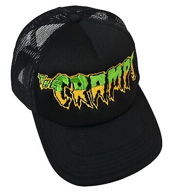 £12.55 • Buy The Cramps Psychobilly Trucker Cap Embroidered Punk Garage Lux Interior Ivy