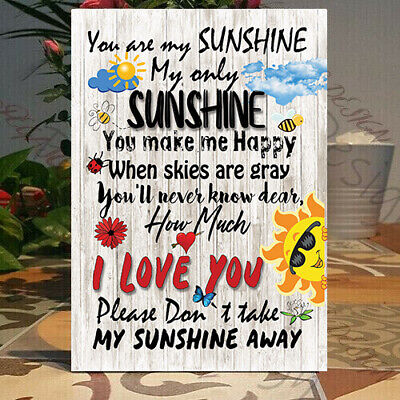 You Are My SUNSHINE Wooden Sign, SUNSHINE Retro Novelty Wooden Plaque • 8£
