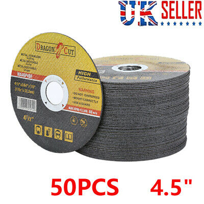 £15.99 • Buy 50X 4.5  115mm ULTRA THIN METAL CUTTING BLADE DISC 1/2  STEEL & STAINLESS 1MM