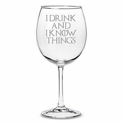 £9.95 • Buy Game Of Thrones Inspired  I Drink And I Know Things  30cl Wine Glass