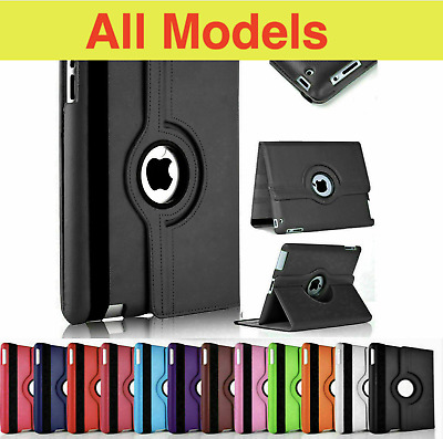 £6.99 • Buy Leather 360 Rotating Smart Stand Case Cover For IPad 1/2/3/4/5 Air Pro 12.9 2021