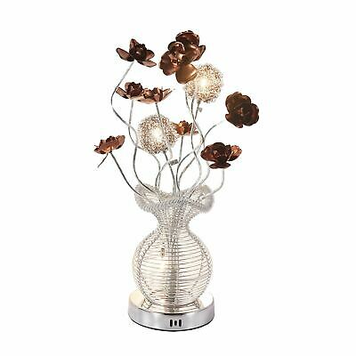 Aluminium Flower Vase Floor Lamp - Coffee And Silver - Brand New • 37.99£