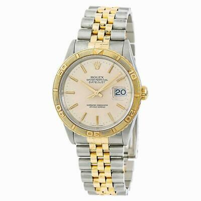 $ CDN6914.42 • Buy Rolex Datejust 16263 Men's Automatic Watch Two Tone 18K Yellow Gold 36MM