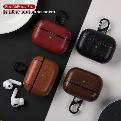 AU15.99 • Buy For Apple Airpods Pro 3 / 2 / 1 PU Leather Anti-Lost Case With Hook Sleeve Cover