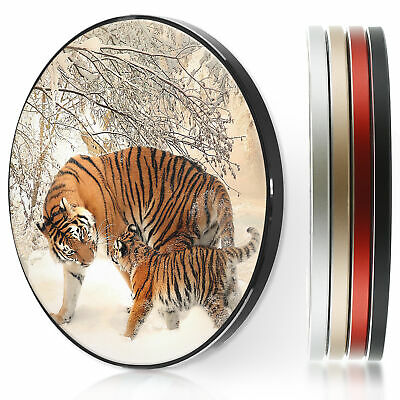 AU44.12 • Buy QI Wireless Charger For Apple Iphone 11/XS/8/Samsung S10/S9 - Snow Tiger Cub Cat