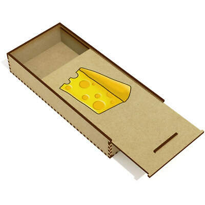 'Cheese' Wooden Pencil Case / Slide Top Box (PC00018576) • 7.99£