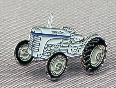 Tractor Pin Badge. Grey Version. Classic Ferguson Metal. Enamel. Farmer. Farming • 1.50£