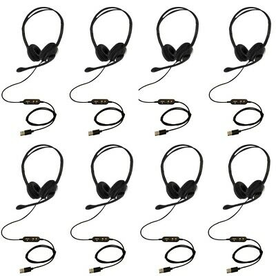 10 X USB Headset With Microphone Noise Cancelling Skype Zoom Eartec Office 150D  • 194.95£
