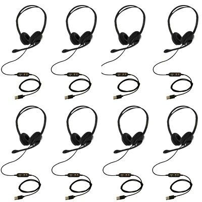 10pc USB Headset With Microphone Noise Cancelling Skype Zoom Eartec Office 150D  • 244£