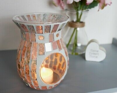 Mosaic Yankee Candle Holder Gift Christmas Tea Light Wax Burner Melt Oil Xmas  • 8.99£