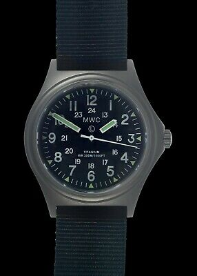 MWC G10 Titanium 12/24 Sapphire Crystal Watch Non-Date 300M NEW Boxed UK Seller • 279£