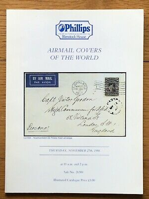 £4.25 • Buy AIRMAIL COVERS OF THE WORLD, Phillips Auction Catalogue 1986 + PR