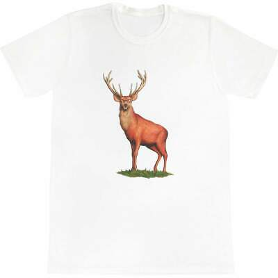 'Red Deer Stag' Men's / Women's Cotton T-Shirts (TA022049) • 12.99£