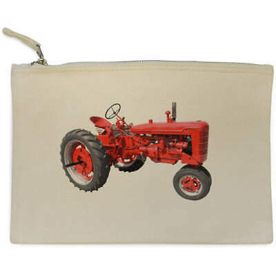 AU17.98 • Buy 'Red Tractor' Canvas Clutch Bag / Accessory Case (CL00007427)