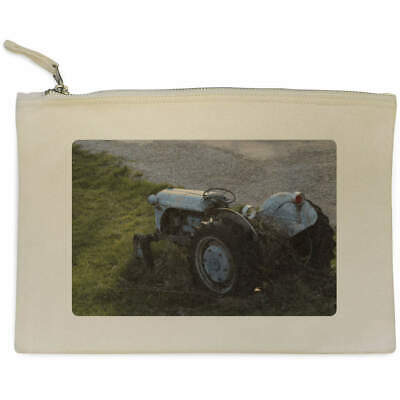 AU17.98 • Buy 'Old Tractor' Canvas Clutch Bag / Accessory Case (CL00003649)