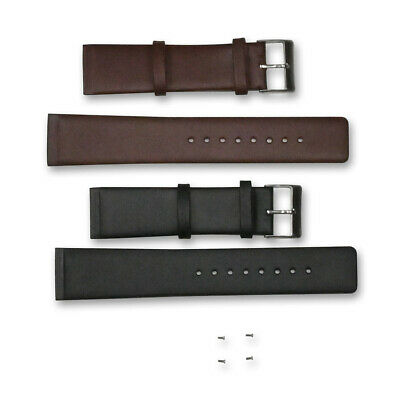 £13.95 • Buy Genuine Leather Skagen Watch Strap 22mm Screw On Black Brown Replacement Band