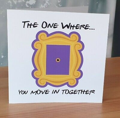 Wittery Square New Home Card Friends The One Where You Move In Together  • 3.84£