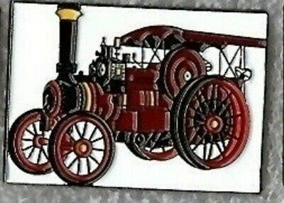 Traction Engine Pin Badge. Steam Tractor. Burrell. Red Version. Metal. Enamel.  • 1.75£