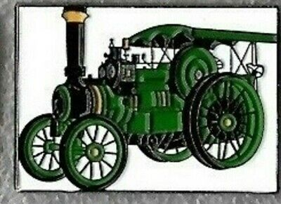 Traction Engine Pin Badge. Steam Tractor. Burrell. Green Version. Metal. Enamel. • 1.75£